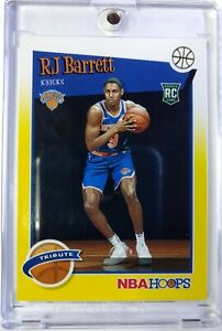 2019-20 Panini NBA Hoops Tribute Yellow RJ Barrett Rookie RC #298, Knicks
