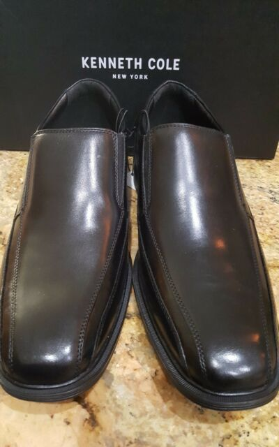Kenneth Cole Mens Slip On Leather Loafers 11 M Black Dress Shoes