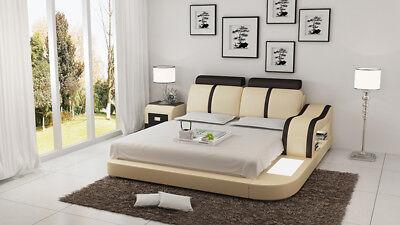 Wasserbett Hotel Doppel Bett Betten Komplett Lederbett Polsterbett Wasser Lb8811