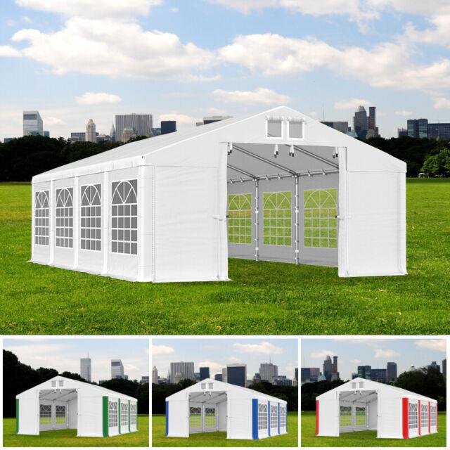 PARTYZELT 4x6m - 8x12m Gartenzelt Festzelt Gartenpavillon Bierzelt PVC 560g/m2