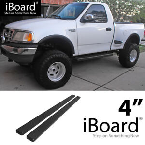 Running Board Side Step 4in Black Fit Ford F150 F250 Ld Regular Cab 97 03 Ebay