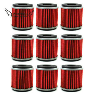 9x Oil Filter For Yamaha 5D3-13440-09 YZ250F YZ450F WR250 WR450 YFZ450
