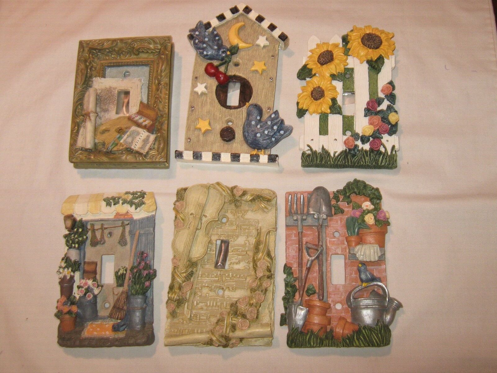 Light Plate Covers , Decorative , Lot of 6., Mixed , Un