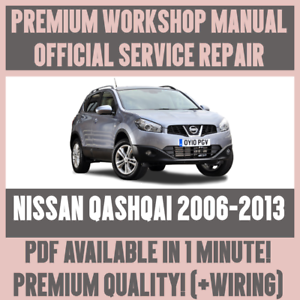 Details about *WORKSHOP MANUAL SERVICE & REPAIR GUIDE for NISSAN QASHQAI on