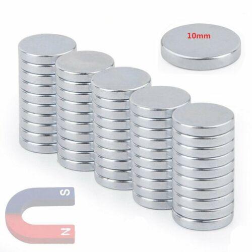 50 Starke Neodym Supermagnete N35 Scheibe Kühlschrank Magnettafel Büro Basteln