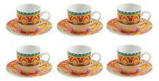 VILLA D°ESTE SET 6 TAZZINE CAFFE KARMA CON PIATTINO CAFFE MOKA COFFE ELEGANTE