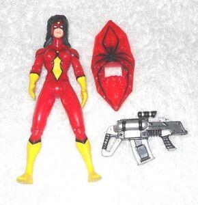 Spider-Man-Spider-Woman-Black-Widow-Assault-Gear-100-complete-Toy-Biz