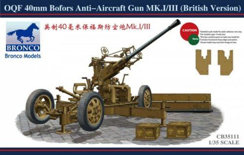 Neu British Version Bronco Cb35111-1//35 Oqf 40mm Bofors Anti-Aircraft Gun