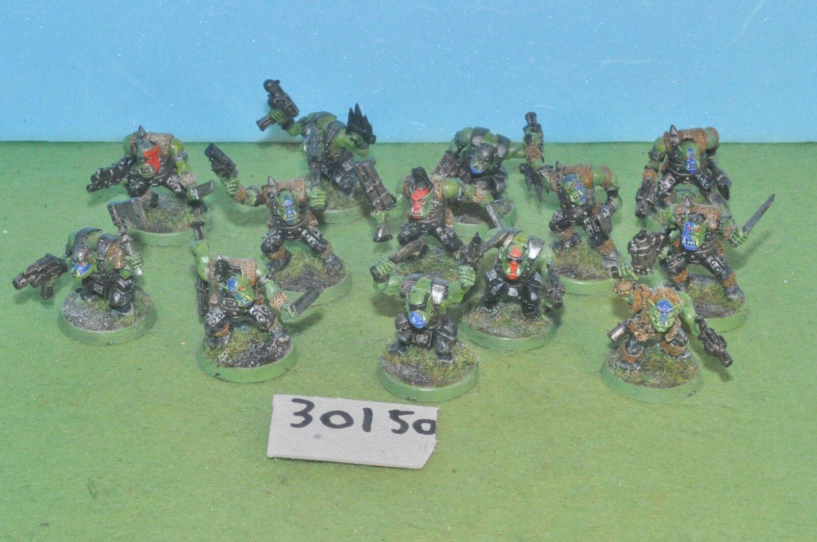 13 orc boys gorka morka 40k (30150) warhammer
