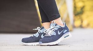 sports shoes bcff7 9cca5 Image is loading NIKE-AIR-MAX-90-ULTRA-PRM-MIDNIGHT-NAVY-