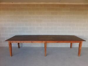 Details About Antique Barn Wood Shaker Style Farm Dining Table 129 5 L