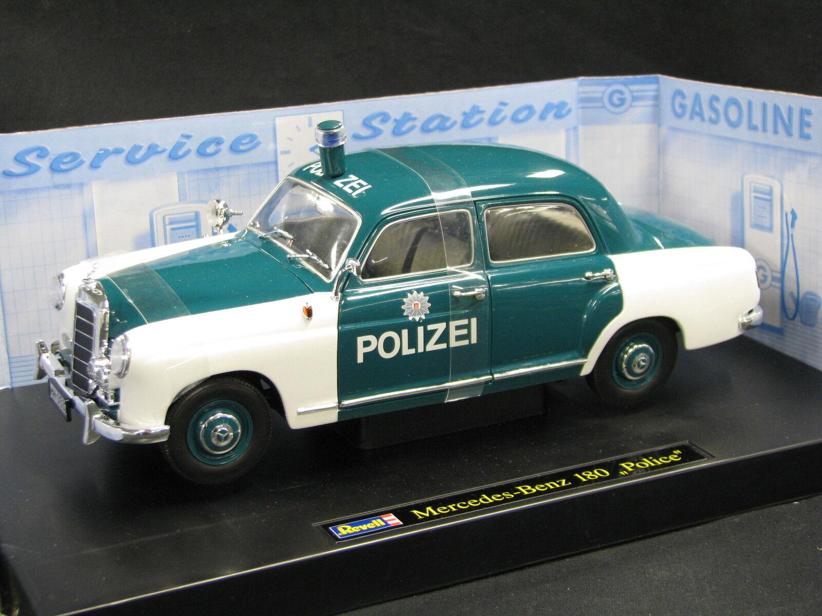 Revell Mercedes-Benz 180  Ponton  1:18 bianca / verde  Polizei   JS
