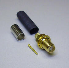 1 x SMA-Rev-steckverb. Crimp-instalación hembra rg58 con schrumpfschlauch (m3629-1)