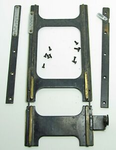 Graflex-Anniversary-Speed-Graphic-4x5-Focusing-Rail-and-front-Guides-Scales