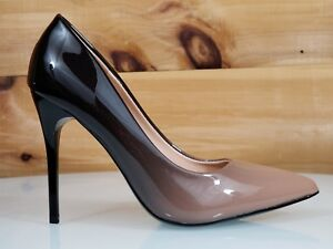 6570f97f1aa Details about In Demand Beige Patent Ombre Blend Pointy Toe Pump Shoe 4