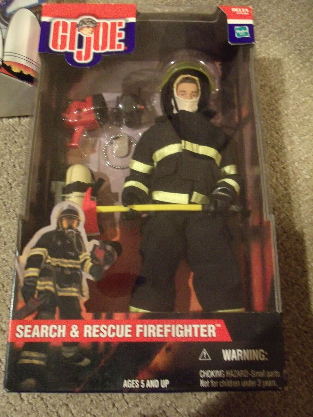 GI Joe Delta 81575 Search And Rescue Firefighter 12  Action Figure Hasbro 2001
