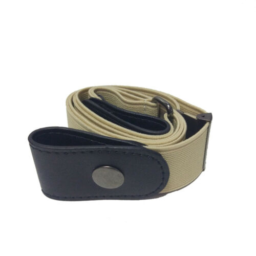 Unisex Buckle-free Elastic Invisible WaistBelt Jeans No Bulge Hassle Waistband D
