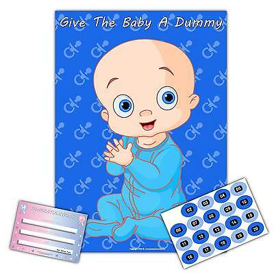 Baby Shower Party Games - GIVE THE BABY A DUMMY -  Large A2 Poster  -  20 player