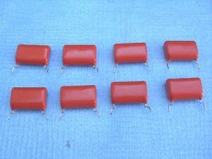 QUANTITY-OF-8-PHILIPS-2-2-MFD-250V-ORANGE-DROP-CAPACITORS