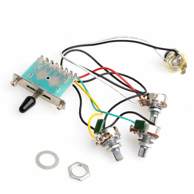 5 way switch strat stratocaster guitar 250k pots knobs wiring harness pickup Dodge Wiring Harness