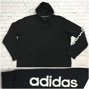 dejar Seducir Monarquía  Adidas para hombre Talla 3XL Negro Sudadera Con Capucha Polar Sudadera con  capucha logotipo spellout Nuevo | eBay
