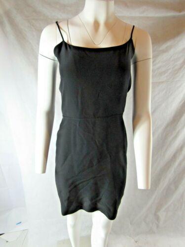 Jenni Kayne 100% Silk Black  Tie Back Dress Size S