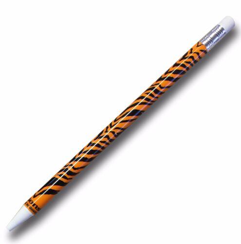Animal Print Novelty Mechanical Pencil 3 Designs. 0.5mm HB Lead /& Eraser Tip