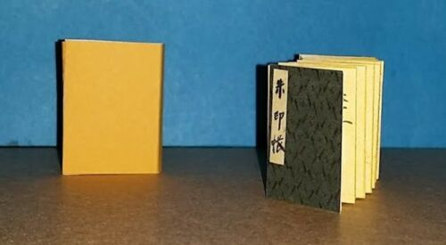 1:6 SCALE MINIATURE BOOK JAPANESE TEMPLE BOOK SIGNED PLAYSCALE BARBIE