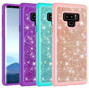 more photos 29de2 15f7f Details about For Samsung Galaxy Note 9 Case Glitter Sparkle Bling Hybrid  Armor Defender Cover