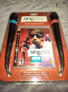 New Playstation 3 PS3 SingStar Bundle With 2 Microphones Sony FACTORY SEALED