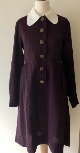 Florence Maroon In 10 Bnwt Kiely Orla Dress Delaine Uk Wool xHR1P