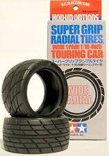 Tamiya 53231 1/10 RC Car Super Grip Radial Tires (Wide,2pcs) For TA02/TT01/TT02
