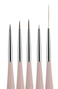 5pcs Nail Art Liners Striping Brushes Fine Line Drawing Detail Painting Blending