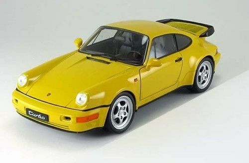 1 18 Welly Porsche 911 964 Turbo yellow