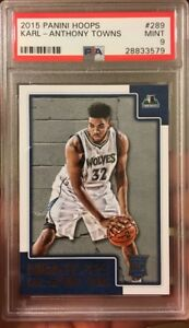 Karl-Anthony-Towns-Rookie-Card-NBA-Hoops-Panini-Mint-9-PSA-2015-All-Star