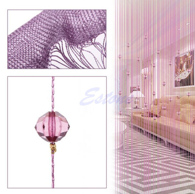 Sparkle Beaded String Door Window Curtain Room Divider Fly Screen Tassel Blind