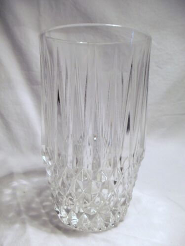 NEW Set of 4 vintage FOSTORIA clear CRYSTAL glass STRATTON hiball GLASSES