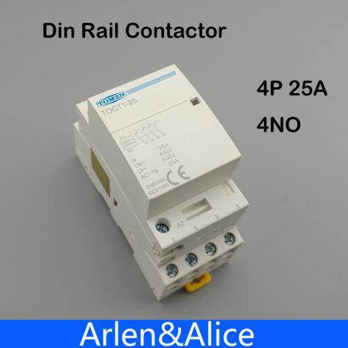 2P 25A 220V//230V 50//60HZ Din rail Household ac contactor  HA
