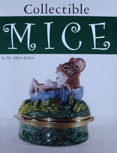 LIVRE-BOOK-SOURIS-COLLECTABLE-verre-bronze-porcelaine-bijoux-mice-figurine