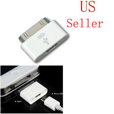 White Micro USB Female to 30pin Male Charger Adapter For Touch iPod iPhone4 4S