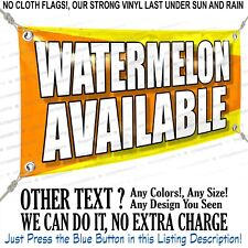Watermelon Available Custom Vinyl Banner Personalized Outdoors Sign
