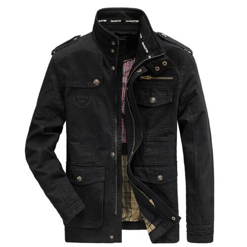 2019 Jeep Rich Men Outdoor Autumn Cotton Blend Zipper Warm Coat Jacket Outwear