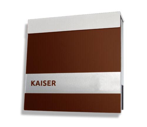Design Boîte aux lettres 4 Couleurs Haute Qualité Boîte aux lettres en acier inoxydable marron compartiment journaux