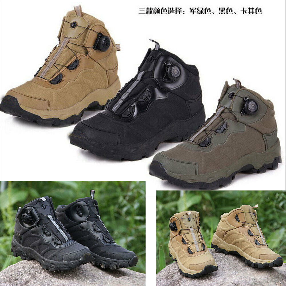Men Athletic Ankle Boots Army Outdoor Climbing Combat Work shoes Tactical Leather