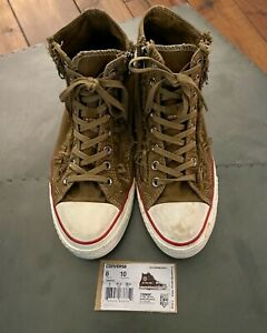 Details about CONVERSE ALL STAR HI K Distressed Double-Zip Basketball SHOES - Unisex 8 M &10 W