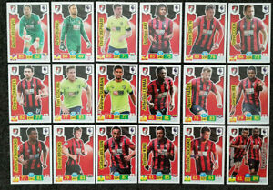2019-20-PANINI-EPL-Soccer-Cards-Bournemouth-Full-Team-Set-18-cards