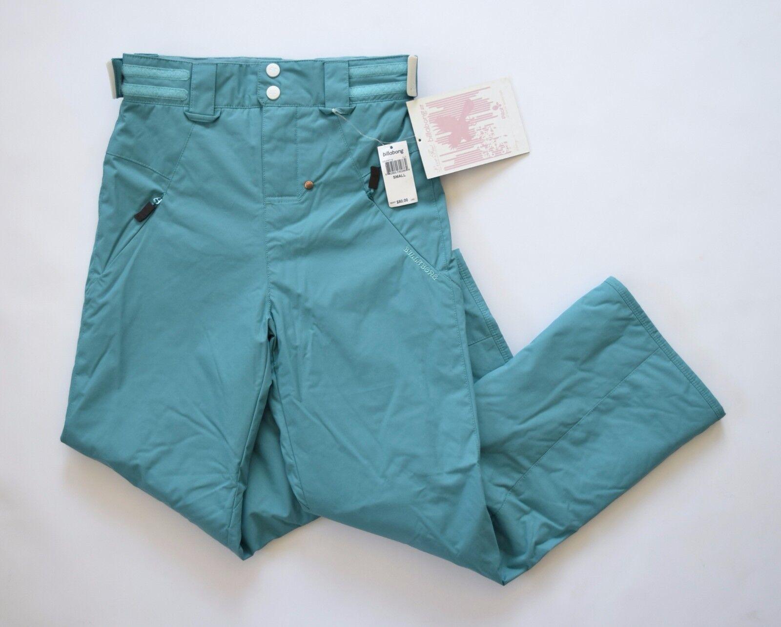 Billabong Girls  Pilot Series Snow Wear Pants – Turquoise sz S  incentive promotionals