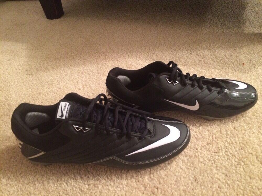 24311c09f Nike Men s Super Speed Speed Speed D Football Cleats Black White 396238 011