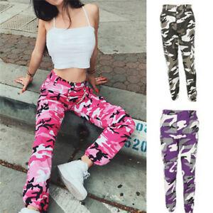 Fashion Women s Casual Long Pants Army Jogger Pants Military ... 38e2896f25