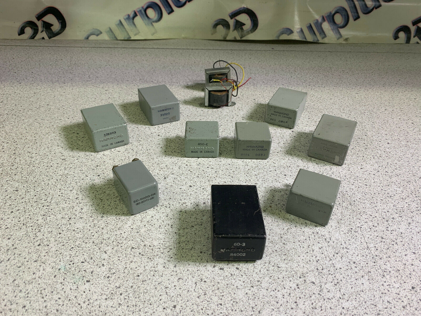 Lot of 10 Various Hammond Audio Transformers See Details